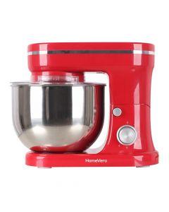 HomeVero Επιτραπέζιο μίξερ - Κουζινομηχανή 1200W σε κόκκινο χρώμα HV-24461R - HV-24461R