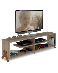 Έπιπλο τηλεόρασης KIPP pakoworld χρώμα sonoma-καρυδί 145x31x39εκ 027-000037