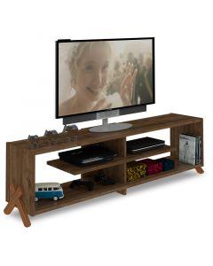 Έπιπλο τηλεόρασης KIPP pakoworld χρώμα καρυδί 145x31x39εκ 027-000040