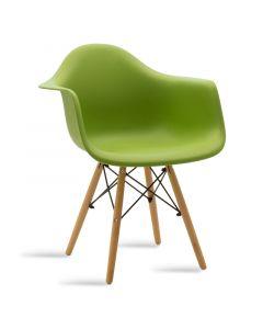 Πολυθρόνα Julita pakoworld πολυπροπυλενίου χρώμα πράσινο - φυσικό 029-000046