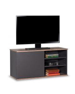 Έπιπλο τηλεόρασης Flat Line pakoworld σε ανθρακί - latte χρώμα 90x35x48εκ 039-000088