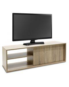 Έπιπλο τηλεόρασης ECO TV pakoworld χρώμα sonoma 120x40x38 εκ 043-000073