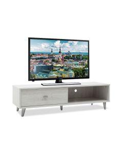 Έπιπλο τηλεόρασης FIRENZE pakoworld χρώμα γκρι-λευκό 120,5x41x33εκ 049-000011