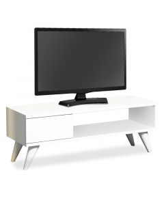 Έπιπλο τηλεόρασης Maya TV pakoworld λευκό 90x30x33 055-000014