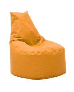 Πουφ πολυθρόνα Norm pakoworld υφασμάτινο αδιάβροχο πορτοκαλί 056-000003