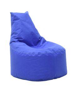 Πουφ πολυθρόνα Norm pakoworld υφασμάτινο αδιάβροχο μπλε 056-000005