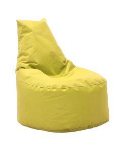 Πουφ πολυθρόνα Norm pakoworld υφασμάτινο αδιάβροχο κίτρινο 056-000037