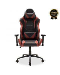 Καρέκλα γραφείου Russel-Gaming SUPREME QUALITY με PU χρώμα μαύρο-μπορντώ 095-000002