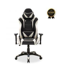 Καρέκλα γραφείου Russell-Gaming SUPREME QUALITY με PU χρώμα μαύρο-λευκό 095-000003