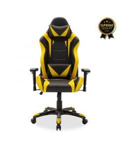 Καρέκλα γραφείου Russel-Gaming SUPREME QUALITY με PU χρώμα μαύρο-κίτρινο 095-000004