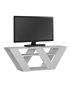 Έπιπλο τηλεόρασης Pipralla pakoworld λευκό 110x40x30εκ 119-001081