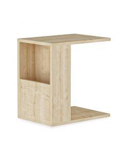 Βοηθητικό τραπέζι σαλονιού Zane pakoworld χρώμα φυσικό 40x30x50εκ 120-000012