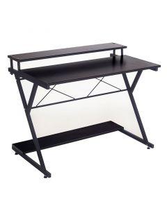 Γραφείο Turin pakoworld χρώμα μαύρο 100x45x75εκ 120-000120