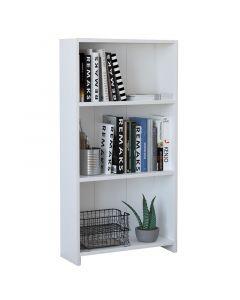 Χαμηλή βιβλιοθήκη Ferma pakoworld λευκό 56x20x108εκ 120-000195