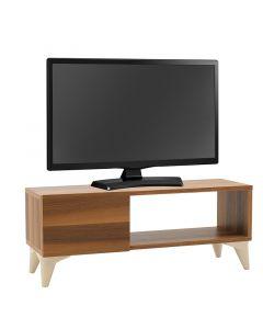 Έπιπλο τηλεόρασης Sensia pakoworld καρυδί-λευκό 90x32x36εκ 120-000208