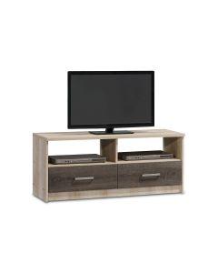 Έπιπλο τηλεόρασης OLYMPUS pakoworld χρώμα castillo-toro 120x39,5x50εκ 123-000018