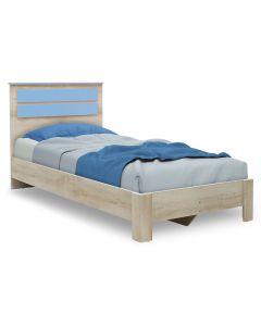 Κρεβάτι παιδικό Looney pakoworld σε χρώμα castillo-μπλε 100x200εκ 123-000076