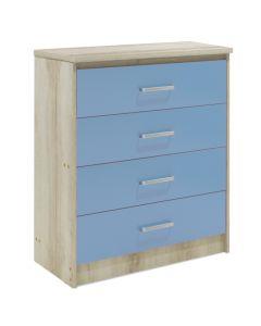 Συρταριέρα παιδική Looney pakoworld με 4 συρτάρια χρώμα castillo-μπλε 80x40x95εκ 123-000078