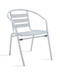 Πολυθρόνα κήπου Tade pakoworld μέταλλο γκρι 130-000013