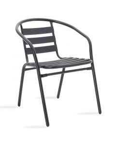 Πολυθρόνα κήπου Tade pakoworld μέταλλο μαύρο 130-000014