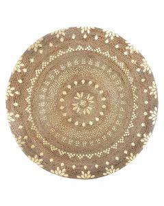 Χαλί Shine pakoworld γιούτα φυσικό-χρυσό Φ115x1εκ 199-000198