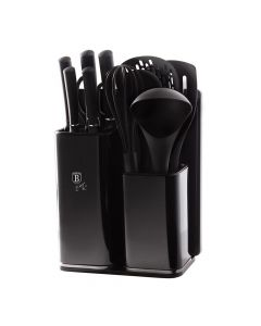 Berlinger Haus Σετ Μαχαίρια - Εργαλεία Κουζίνας με Βάση Στήριξης 13τμχ. Carbon Edition BH-2548 6056