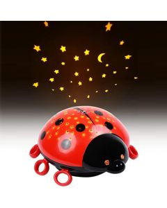 HEITECH LED STARRY SKY PROJECTOR LADYBAG NIGHT LIGHT TOUCH HEI000434