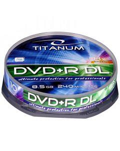 ESPERANZA DVD+R TITANIUM 8,5GBX8 DL CAKE BOX 10PCS 1249