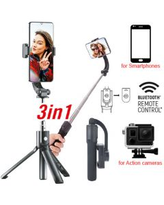 GOXTREME1-AXIS SELFIE GIMBAL GS1 WITH BT REMOTE CONTROL GX55239
