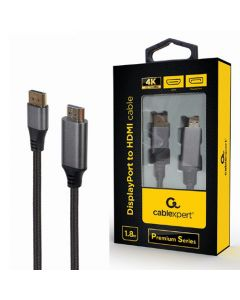 CABLEXPERT DISPLAYPORT TO HDMI CABLE PREMIUM SERIES 4K 1,8M RETAIL PACK CC-DP-HDMI-4K-6