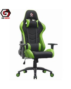 GEMBIRD GAMING CHAIR LEATHER BLACK/GREEN GC-01-G