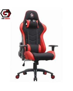 GEMBIRD GAMING CHAIR LEATHER BLACK/RED GC-01-R