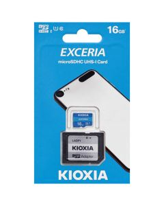 KIOXIA MICRO SD 16GB WITH ADAPTER UHS I U1 (M203) LMEX1L016GG2