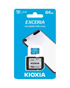 KIOXIA MICRO SD 64GB WITH ADAPTER UHS I U1 (M203) LMEX1L064GG2