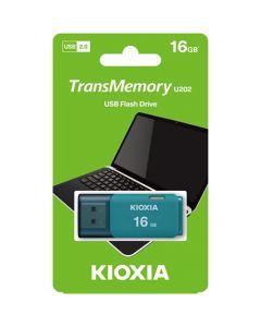 KIOXIA USB 2.0 FLASH STICK 16GB HAYABUSA AQUA U202 LU202L016GG4