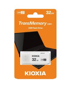 KIOXIA USB 3.0 FLASH STICK 32GB HAYABUSA WHITE U301 LU301W032GG4