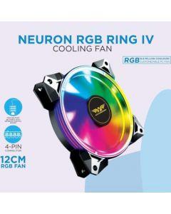 ARMAGGEDDON GAMING PC COOLING FAN (120MM RGB FAN) NEURON RGB RING IV NEURONIV