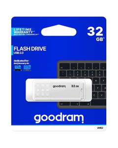 GOODRAM USB 2,0 FLASH DRIVE 32GB WHITE UME2-0320W0R11