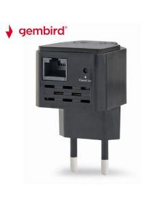 GEMBIRD WIFI REPEATER 300MBPS BLACK WNP-RP300-03-BK