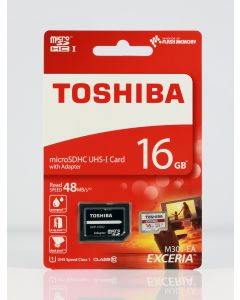TOSHIBA MICRO SD 16GB C10 UHS-I WITH ADAPTOR M301 TOS330295