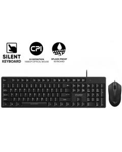 ALCATROZ USB WIRED SILENT COMBO KEYBOARD AND MOUSE XPLORER C3300 C3300