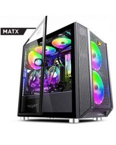 ARMAGGEDDON MICRO ATX GAMING PC CASE TESSARAXX CORE 1 AIR BLACK CORE1AB