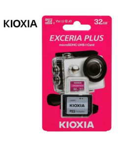 KIOXIA 4K MICRO SD 32GB EXCERIA PLUS UHS I U3 WITH ADAPTER M303 LMPL1M032GG2