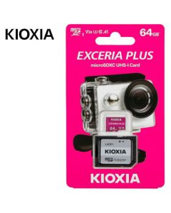 KIOXIA 4K MICRO SD 64GB EXCERIA PLUS UHS I U3 WITH ADAPTER M303 LMPL1M064GG2