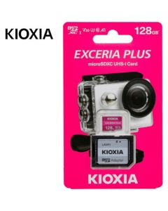 KIOXIA 4K MICRO SD 128GB EXCERIA PLUS UHS I U3 WITH ADAPTER M303 LMPL1M128GG2