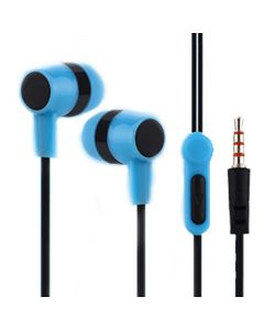 LAMTECH HANDSFREE WITH MIC 3,5MM JACK BLUE LAM021349