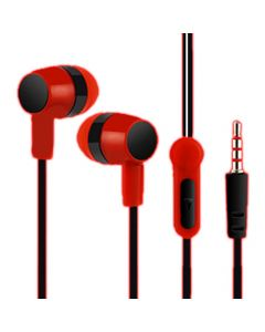 LAMTECH HANDSFREE WITH MIC 3,5MM JACK RED LAM021363