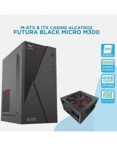 ALCATROZ PC CASE FUTURA BLACK MICRO M300 WITH PSU 450W FUTURAM300