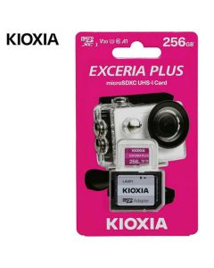 <p> KIOXIA 4K MICRO SD 256GB EXCERIA PLUS UHS I U3 WITH ADAPTER M303</p> LMPL1M256GG2