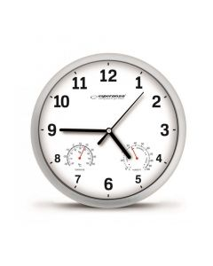 ESPERANZA ρολόι τοίχου Lyon EHC016W, 25cm, λευκό EHC016W id: 23123